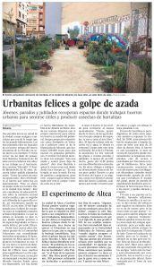 Urbanitas felices a golpe de azada