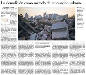 La demolición como método de renovación urbana