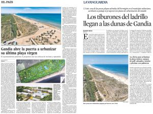 Las dunas de Gandia, urbanizables