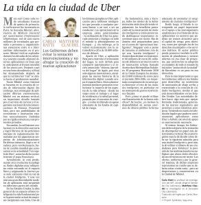 La vida en la ciudad de Uber