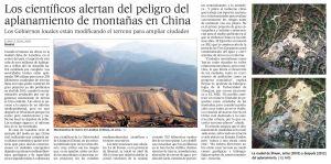 Los científicos alertan del peligro del aplanamiento de montañas en China