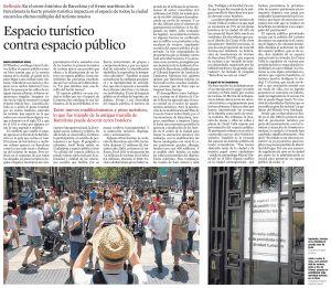 Espacio turístico contra espacio público