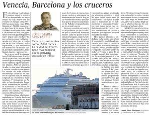 Venecia, Barcelona y los cruceros copia