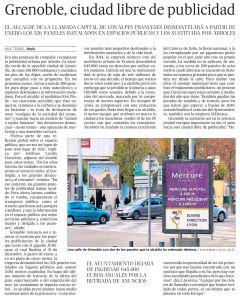 Grenoble, ciudad libre de publicidad