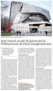 Jean Nouvel, en pie de guerra por la Philharmonie de París, inaugurada ayer