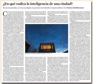 En qué radica la inteligencia de una ciudad?
