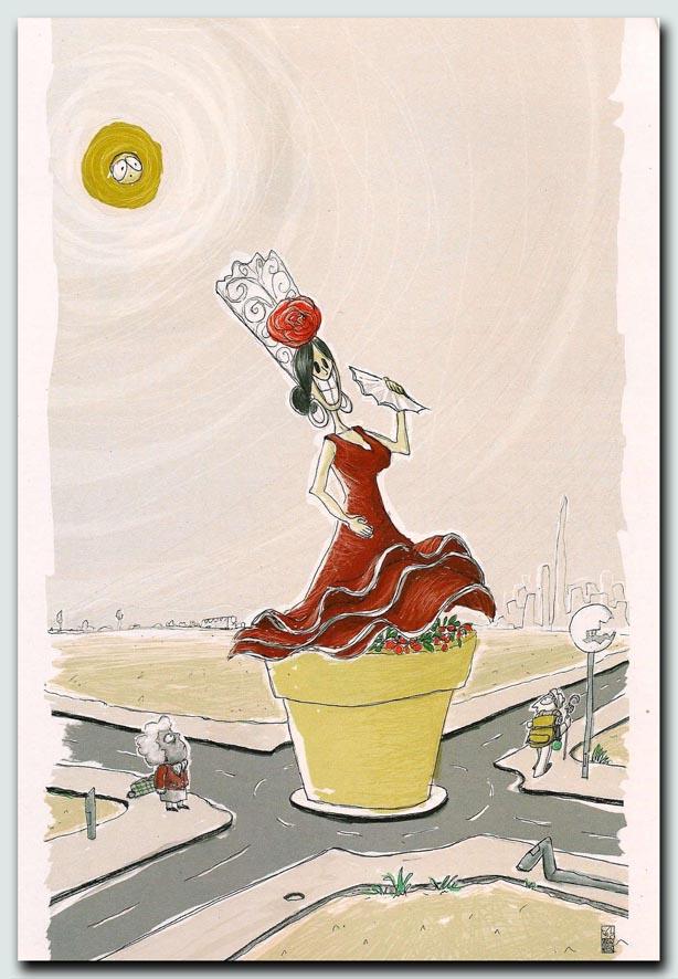La ciudad rotonda-ilustracion