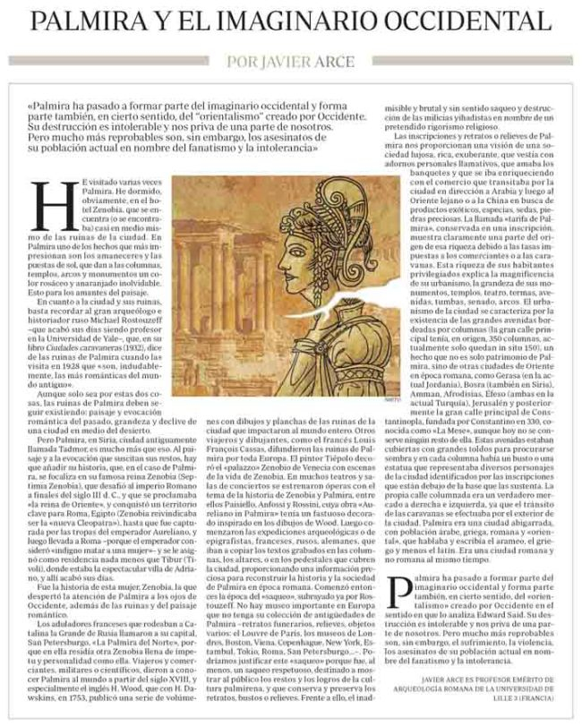 Palmira y el imaginario occidental