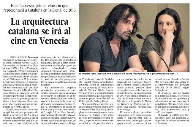 La arquitectura catalana se irá al cine en Venecia