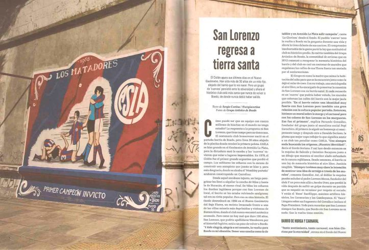San Lorenzo regresa a tierra santa 1