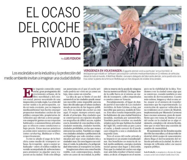 El ocaso del coche privado