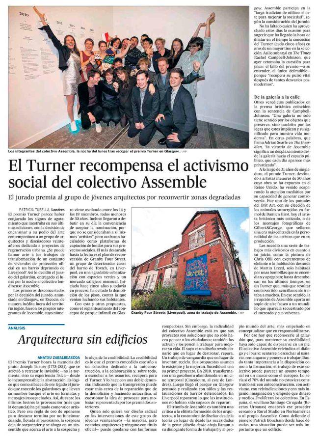 El Turner recompensa el activismo social del colectivo Assemble