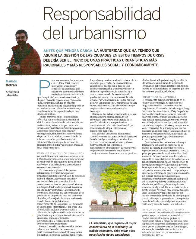 Responsabilidad del urbanismo
