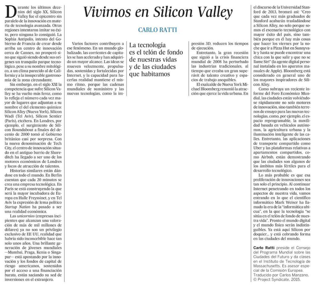 Vivimos en Silicon Valley