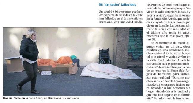 56 'sin techo' fallecidos