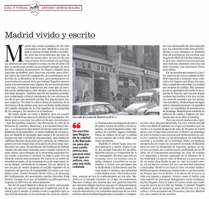 Madrid vivido y escrito