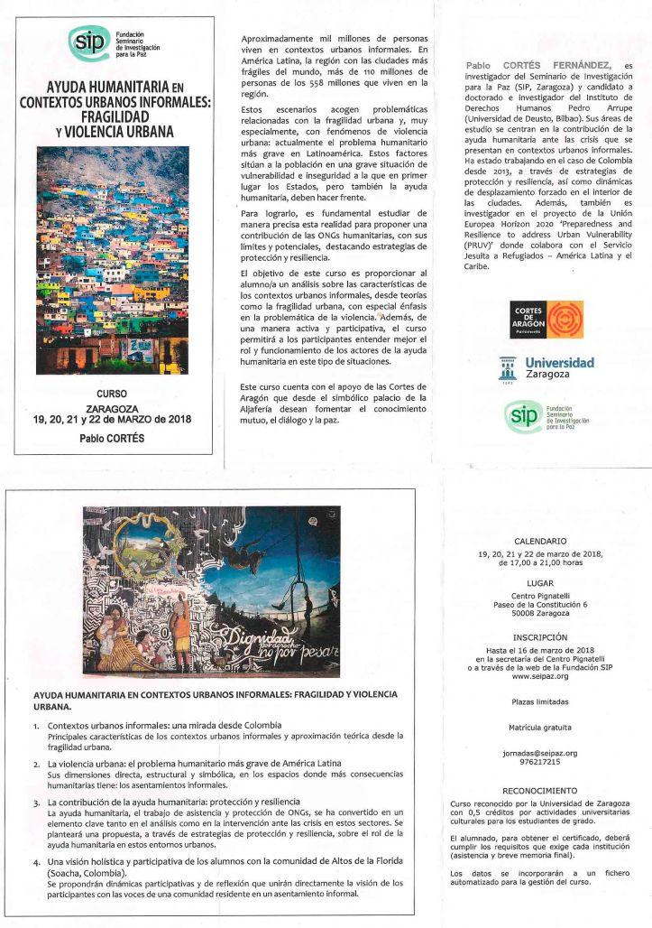 Ayuda humanitaria en cotextos urbanos informales