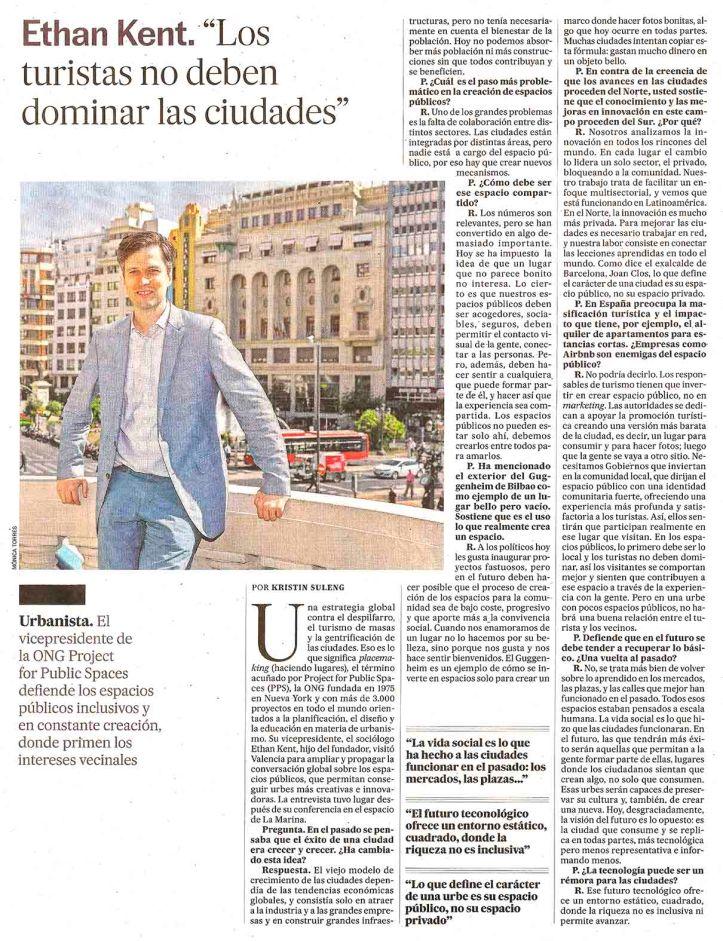 Ethan Kent. 'Los turistas no deben dominar las ciudades'