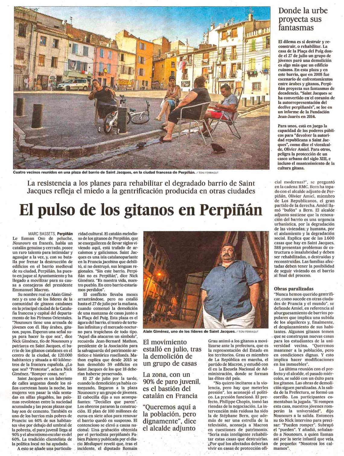 El pulso de los gitanos en Perpiñán
